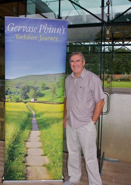 "Gervase Phinn at the book launch of ""Yorkshire Journey"""