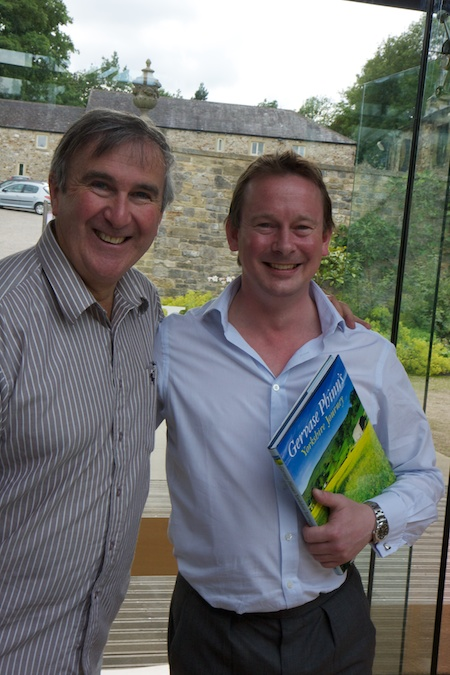 "Gervase Phinn with Matthew Townsend at the book launch of ""Yorkshire Journey"""