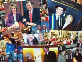 montage of photos with Gervase Phinn